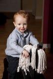 chłopiec hobby koń Obrazy Royalty Free