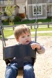chłopiec huśtawka Fotografia Royalty Free