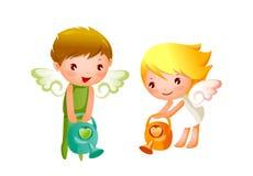 Chłopiec i Dziewczyna Fotografia Stock