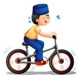 Chłopiec jechać na rowerze Obrazy Royalty Free