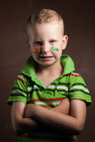 Chłopiec jest fan Irlandia, Obraz Stock