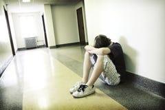 chłopiec nastoletni przygnębiony Zdjęcie Stock