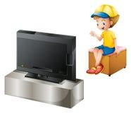 Chłopiec ogląda TV Zdjęcie Royalty Free