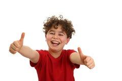 chłopiec ok seans znak Zdjęcie Royalty Free