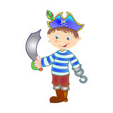 chłopiec pirat Fotografia Royalty Free
