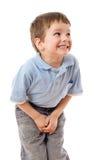 Chłopiec potrzeba siuśki Zdjęcia Royalty Free