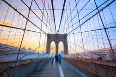 chłopiec przerzucają most Brooklyn Zdjęcia Stock
