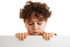 chłopiec pusty deskowy mienie Fotografia Stock