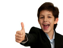 chłopiec szczęśliwa bardzo Obraz Royalty Free