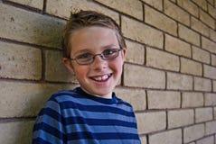 chłopiec szczęśliwy z podnieceniem Zdjęcie Stock