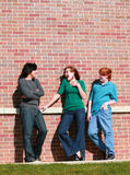chłopiec target3128_0_ dziewczyny nastoletniej Zdjęcie Stock