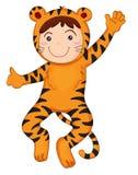 chłopiec tygrys Zdjęcie Stock