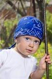 Chłopiec w huśtawce Obrazy Royalty Free