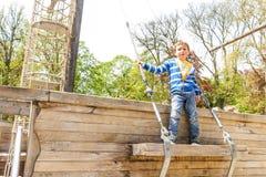 Chłopiec w wiosna parku, Luksemburg Obrazy Royalty Free