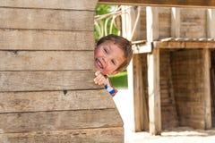 Chłopiec w wiosna parku, Luksemburg Obrazy Stock