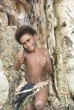 Chłopiec - wyspa Pacyficzny ocean Zdjęcia Royalty Free