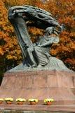 Chopin μνημείο στοκ φωτογραφίες