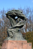 chopin frederic monument fotografering för bildbyråer