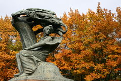 Chopin-Monument Stockfotografie