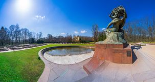 Chopin Monument in Lazienki Park stock image