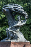 The Chopin Monument at Lazienki Park in Warsaw, Poland. The beautifully sculptured Chopin Monument at Lazienki Park in Warsaw in Poland royalty free stock image