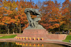 Chopin Monument in Warsaw (Poland). The monument was unveiled in 1926. It was destroyed by the Germans during the Second World War. Reconstructed monument was Royalty Free Stock Photos