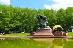 Chopin-pianooverleg in het park van Warshau Stock Fotografie