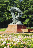 Chopin statue Stock Photography