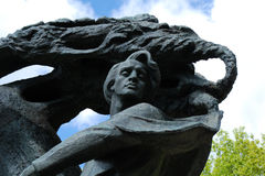 Chopin-Statue Warschau Lizenzfreies Stockbild