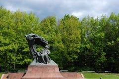 Chopin-Statue Warschau Lizenzfreie Stockfotografie