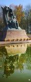 Chopin staty, Warszawa, Polen Fotografering för Bildbyråer