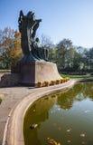 Chopin staty, Warszawa, Polen Royaltyfri Foto