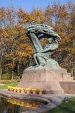 Chopin staty, Warszawa, Polen Arkivbild