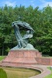 Chopinowska statua w Warszawa skąpań parka Lazienki Królewskim aka parku w Polska Obraz Royalty Free