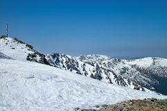 Chopok - attractive peak in the Low Tatras. View of the top of Chopok Slovakia Stock Photos