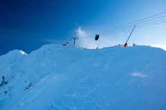 Chopok freeride zone, freeride skiing, Jasna, Low Tatras, Slovak. Ia, Europe Stock Images