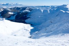 Chopok freeride zone, freeride skiing, Jasna, Low Tatras, Slovak. Ia, Europe Stock Image