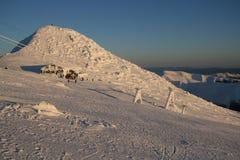 Chopok maximal dans la station de sports d'hiver Jasna - Slovaquie Photographie stock libre de droits