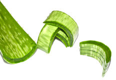 Chopped Aloe vera. With stacked pieces Stock Photo