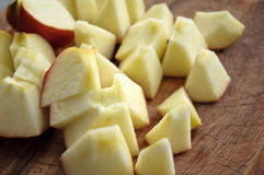 Chopped Apple Royalty Free Stock Images