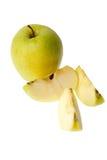 Chopped apple Stock Photo