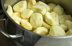 Chopped apples Royalty Free Stock Images