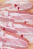 Chopped bacon Stock Image