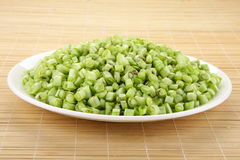 Chopped beans Royalty Free Stock Photography