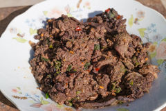 Chopped Beef Cooked in Northeastern Style Royalty Free Stock Photo