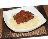 Chopped beef with couscous Royalty Free Stock Photography