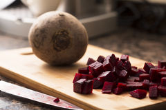 Chopped Beetroot Stock Photography