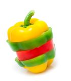 Chopped bell peppers isolated Royalty Free Stock Photos