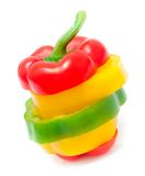 Chopped bell peppers isolated Royalty Free Stock Images