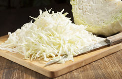 Chopped cabbage strips Royalty Free Stock Photography
